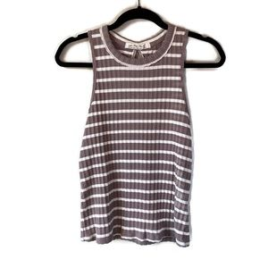 Free People Fired Up Striped Cut-Out Tank Top